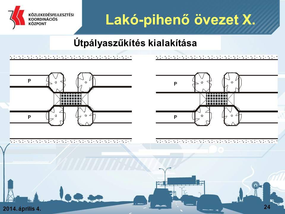 2014. április 4. 24 Lakó-pihenő övezet X. Útpályaszűkítés kialakítása