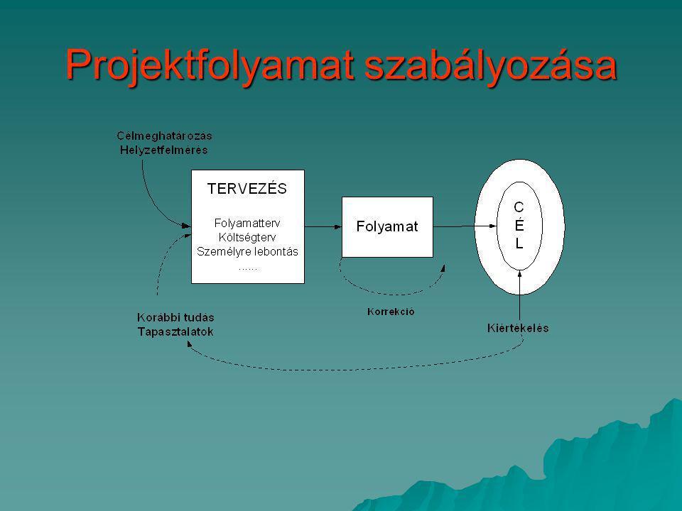 Projektfolyamat szabályozása (folytatás_1)  Egyedi folyamatról van szó.
