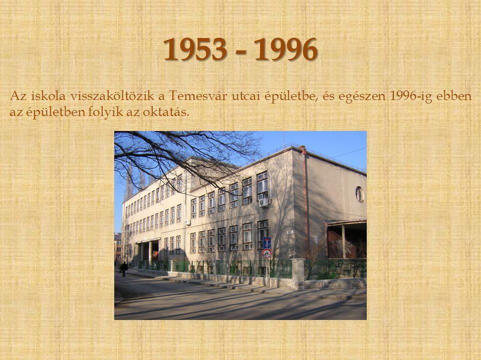 1951 - 1953 Szeptember 12-én honvédelmi hatóságnak át kellett adni az épületet.