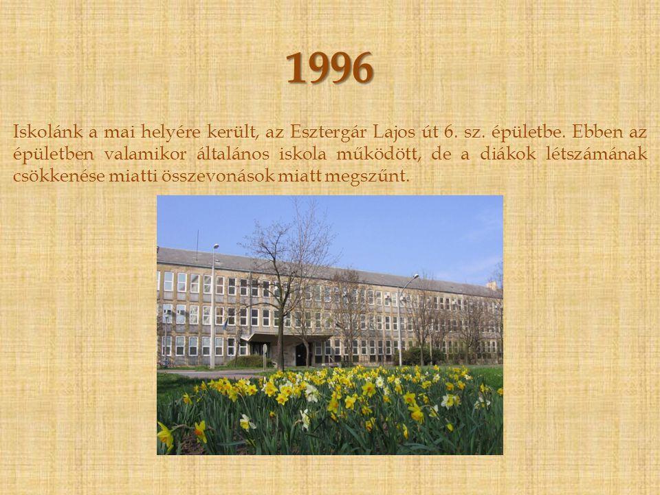 1953 - 1996 Az iskola visszaköltözik a Temesvár utcai épületbe, és egészen 1996-ig ebben az épületben folyik az oktatás.
