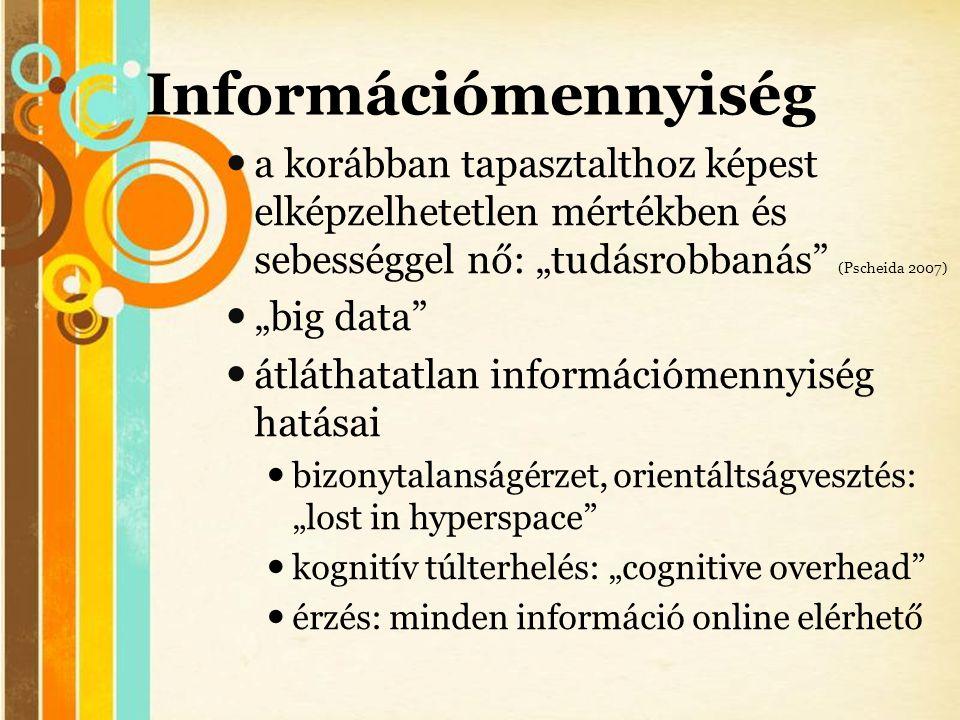 """Free Powerpoint Templates Információmennyiség  a korábban tapasztalthoz képest elképzelhetetlen mértékben és sebességgel nő: """"tudásrobbanás"""" (Pscheid"""