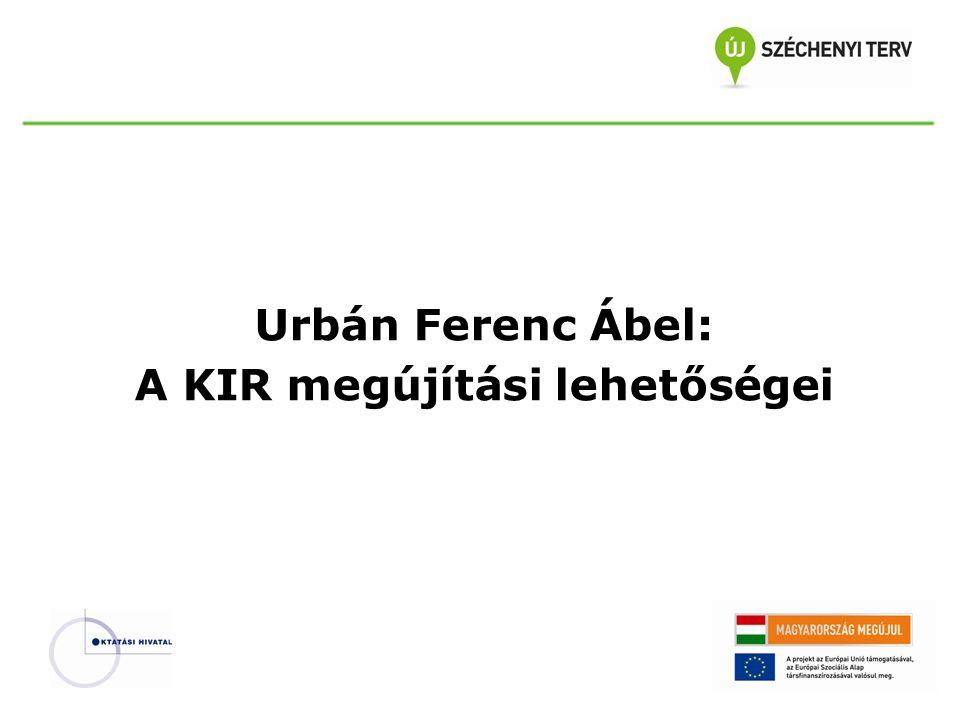 A KIR megújítási lehetőségeinek bemutatása: -a KIR alrendszerek integrációja, egykapus ügyintézés, egységes jogosultságkezelés -egységes KIR szolgáltatáscentrum (oktatas.hu) kiépítése -a közhiteles intézményi és személyi nyilvántartásokhoz való kapcsolódás irányai -adattisztító és adatvalidáló szolgáltatások bevezetése, továbbfejlesztése -az oktatási ágazat adatgazdáinak szorosabb együttműködése -az állami köznevelési intézményfenntartási feladatok támogatása -az intézményi adminisztrációs és ügyviteli folyamatok központi támogatása -hatósági és oktatásirányítási döntéshozatal nagyobb fokú támogatása -a digitális hitelesítés teljes körűvé tétele a KIR alrendszereiben -a KIR kommunikációs csatornák egységesítése -a felsőoktatási információs rendszerrel történő szorosabb kapcsolatrendszer kialakítása