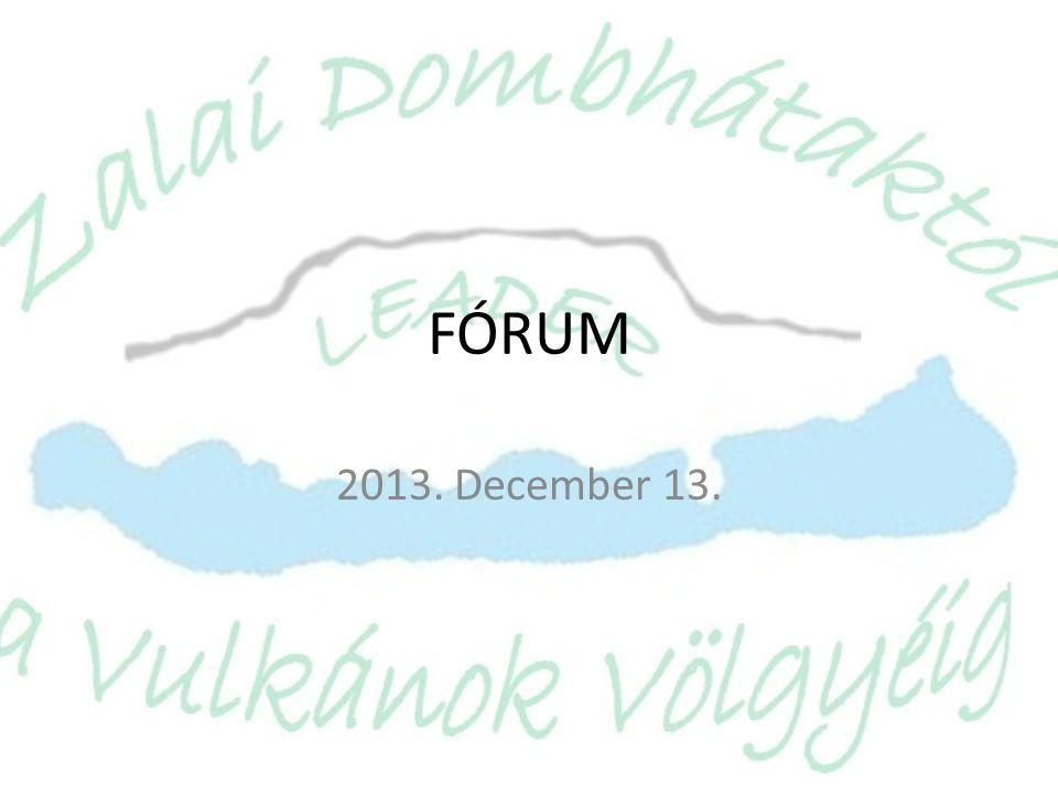 FÓRUM 2013. December 13.