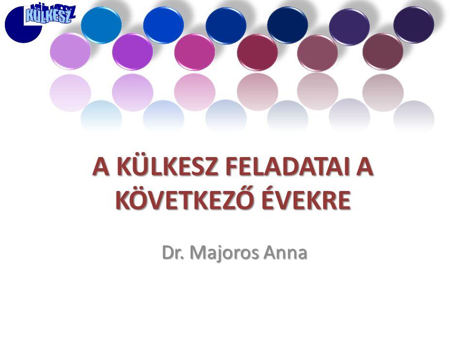A KÜLKESZ FELADATAI A KÖVETKEZŐ ÉVEKRE Dr. Majoros Anna