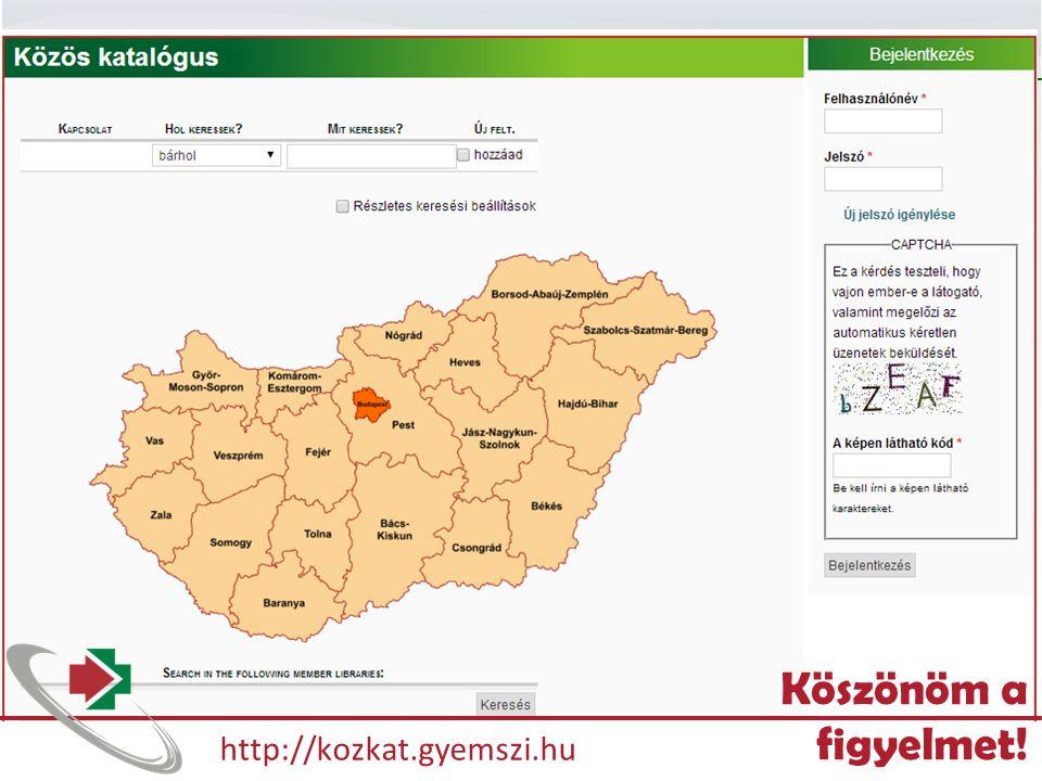 NETWORKSHOP 2014 - PÉCS http://kozkat.gyemszi.hu Köszönöm a figyelmet!