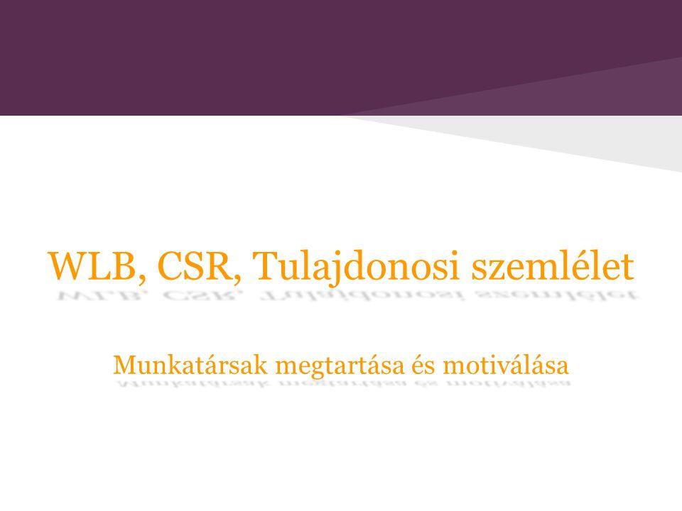 WLB, CSR, Tulajdonosi szemlélet Munkatársak megtartása és motiválása