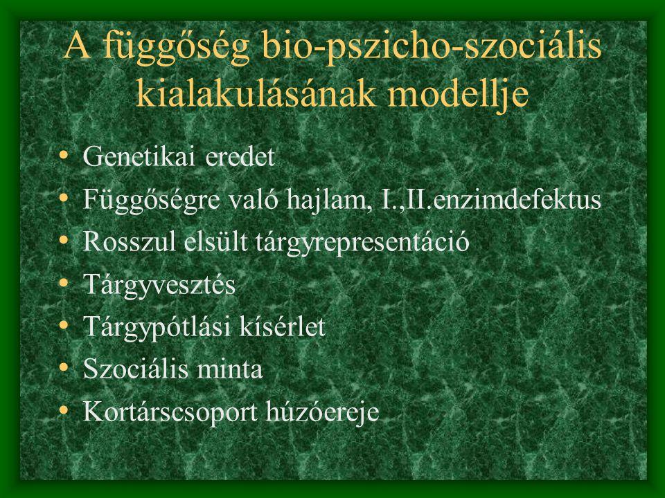 Legális szerfüggőségek • Nikotin: a dohányban található alkaloida, a függőségért a központi idegrendszerben lezajló elváltozások tehetők felelőssé.doh
