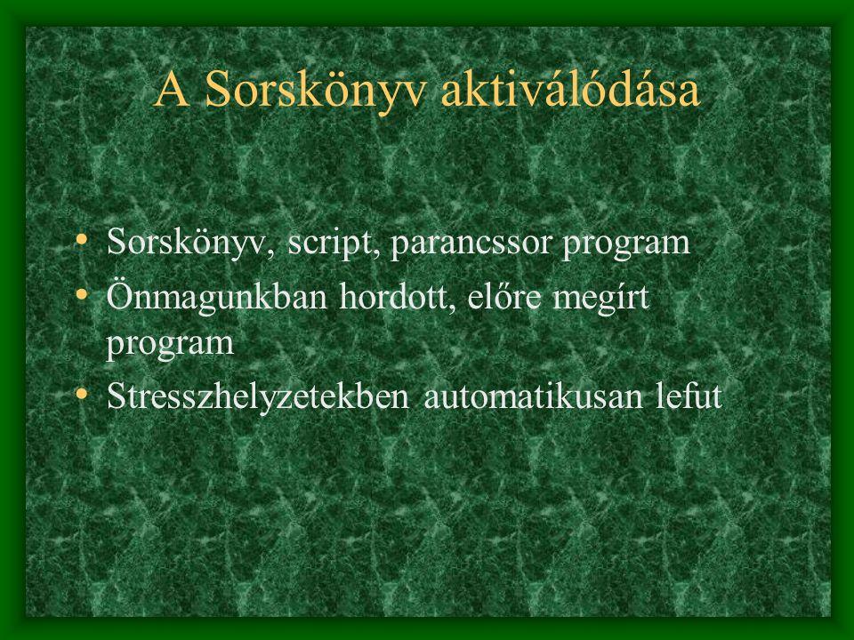 Az Ellentétes Sorskönyv szerepe • Sorskönyv – önkéntelenül aktiváljuk neg.