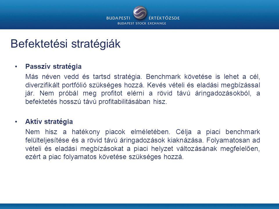 •Passzív stratégia Más néven vedd és tartsd stratégia.