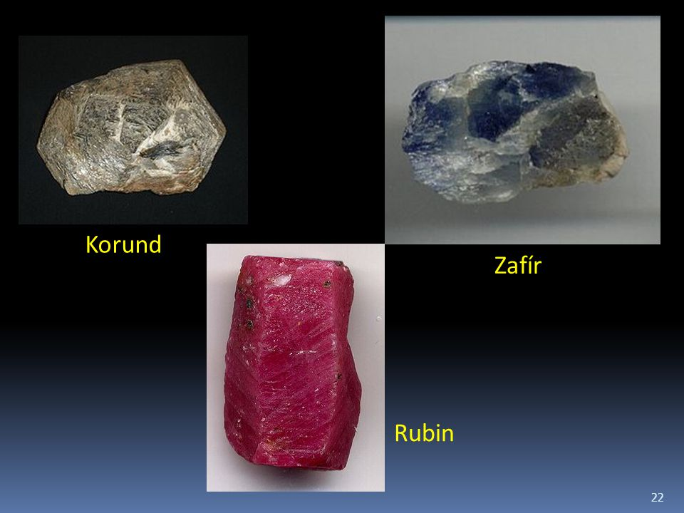 22 Korund Zafír Rubin