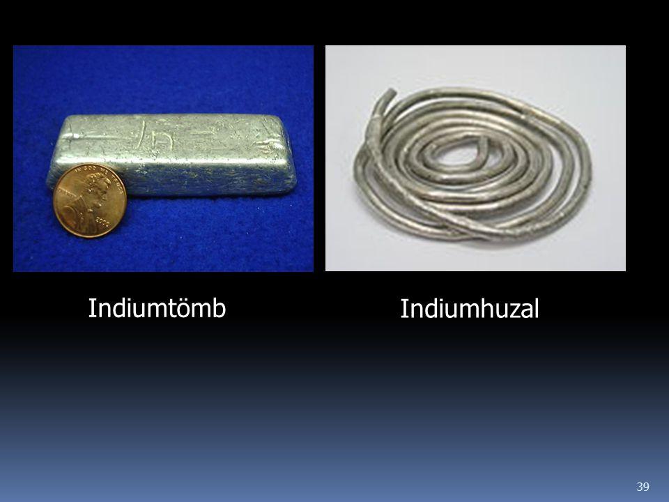 39 Indiumtömb Indiumhuzal