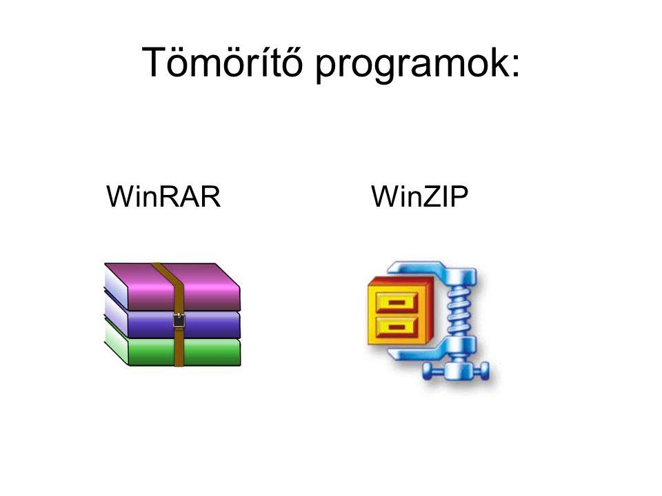 Tömörítő programok: WinRARWinZIP