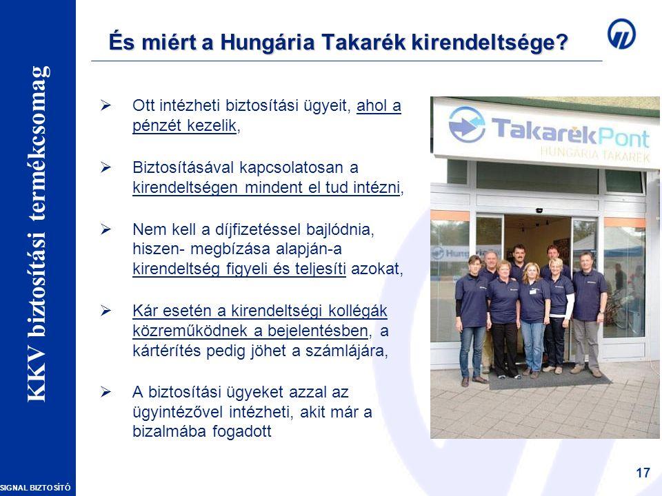 SIGNAL BIZTOSÍTÓ Vállalkozói vagyonbiztosítások – Szakmai Nap 17 És miért a Hungária Takarék kirendeltsége.