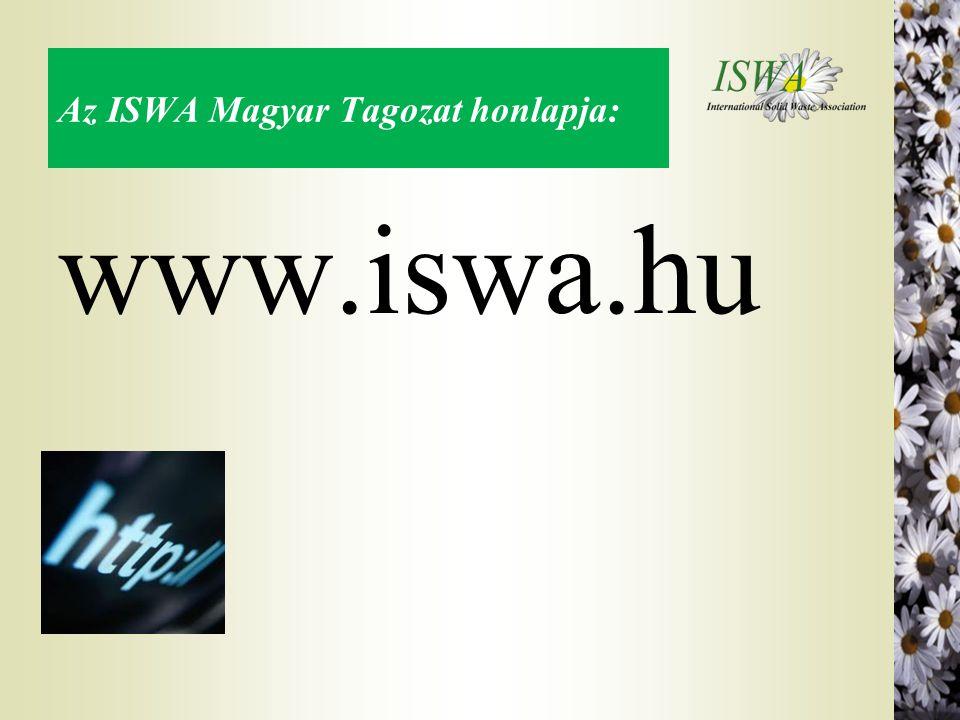 Az ISWA Magyar Tagozat honlapja: www.iswa.hu