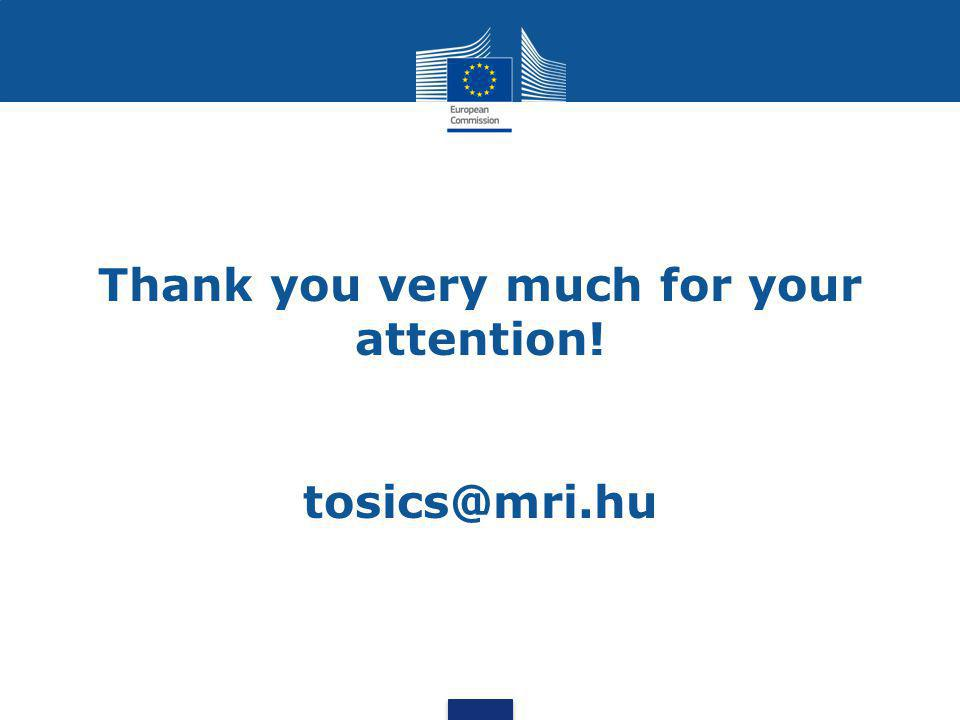 Thank you very much for your attention! tosics@mri.hu