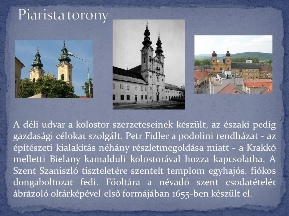 A déli udvar a kolostor szerzeteseinek készült, az északi pedig gazdasági célokat szolgált. Petr Fidler a podolini rendházat - az építészeti kialakítá