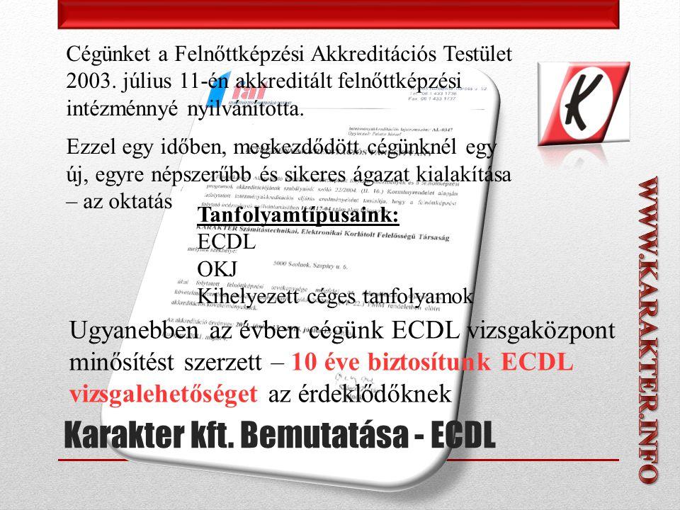 A vizsgafeladatok értékelését a vizsgabiztos végzi az ECDL követelményei alapján.