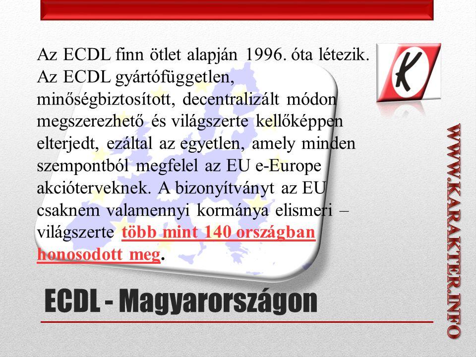 Az ECDL finn ötlet alapján 1996. óta létezik.