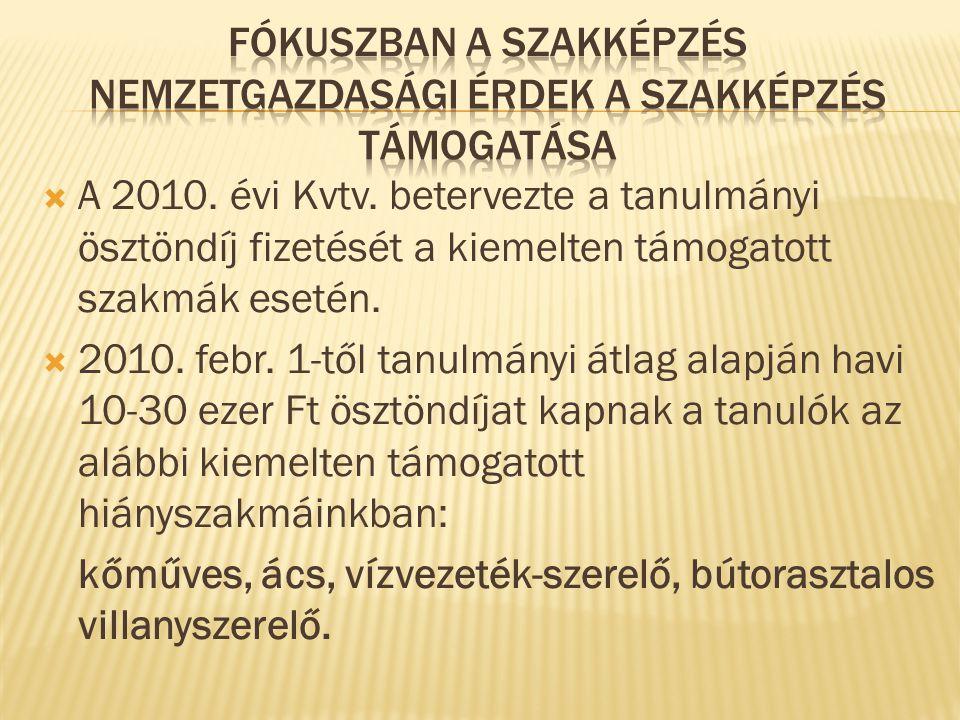  A 2010.évi Kvtv.
