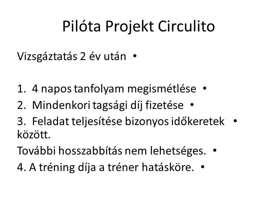 Pilóta Projekt Circulito • Vizsgáztatás 2 év után • 1.