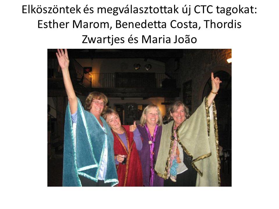 Elköszöntek és megválasztottak új CTC tagokat: Esther Marom, Benedetta Costa, Thordis Zwartjes és Maria João