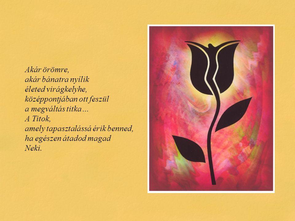 Akár örömre, akár bánatra nyílik életed virágkelyhe, középpontjában ott feszül a megváltás titka… A Titok, amely tapasztalássá érik benned, ha egészen