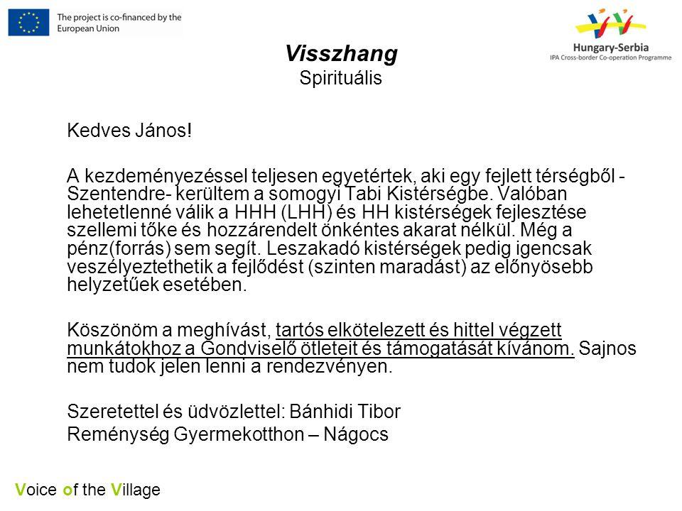 Voice of the Village Visszhang Spirituális Kedves János.