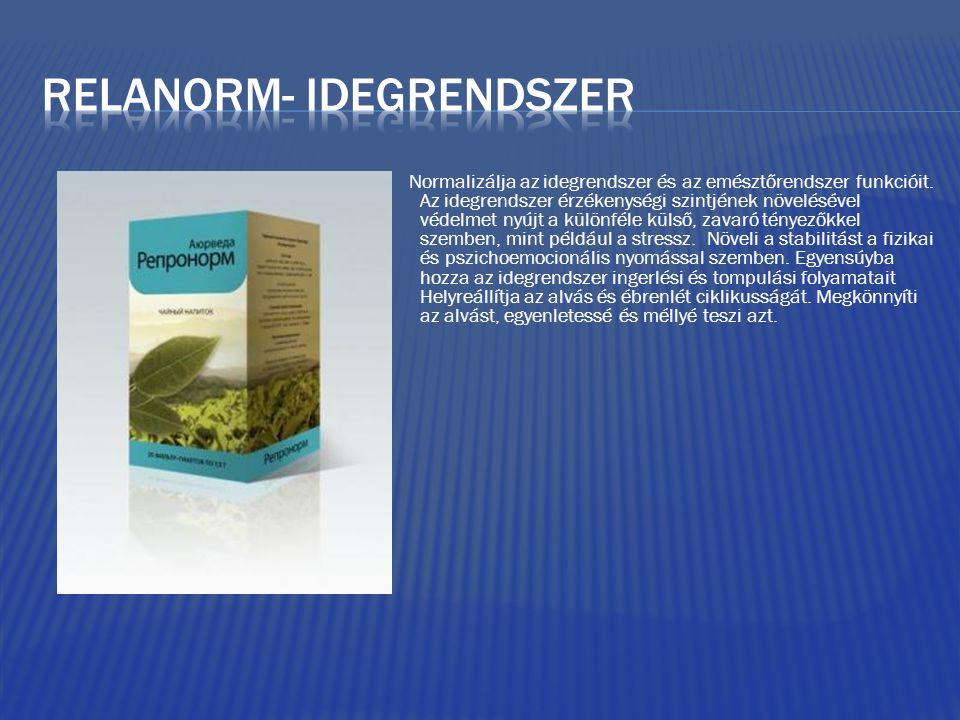 Normalizálja az idegrendszer és az emésztőrendszer funkcióit. Az idegrendszer érzékenységi szintjének növelésével védelmet nyújt a különféle külső, za
