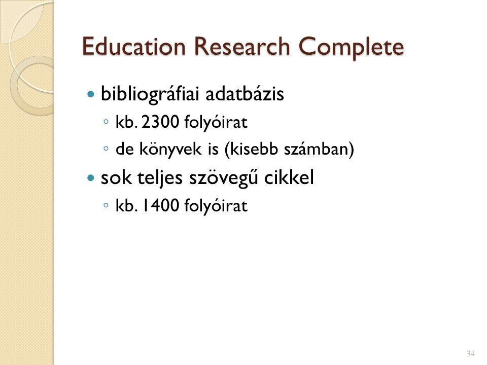ERIC EBSCO- ban  magyar felület  angol tárgy- szavak  tezaurusz 33