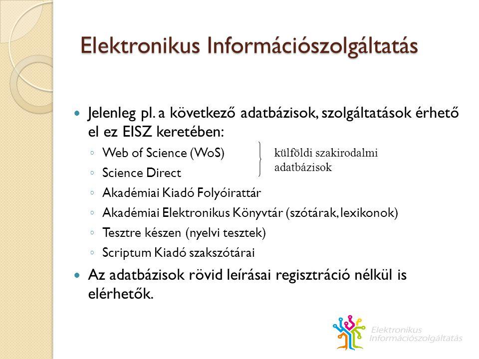 EISZ Elektronikus Információszolgáltatás