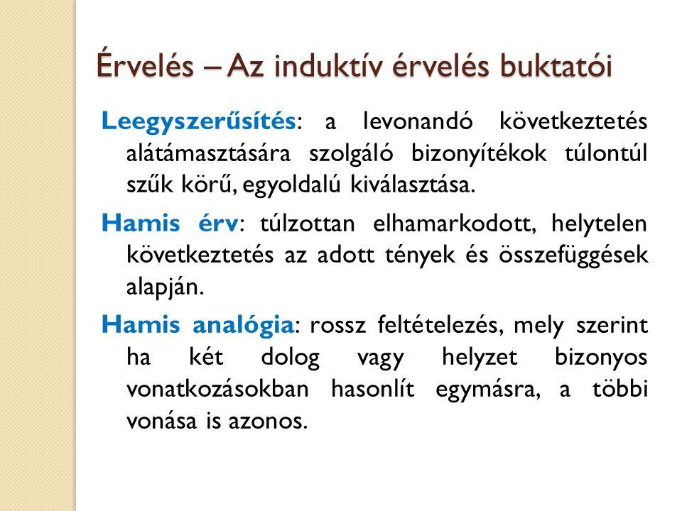Érvelés – A deduktív érvelés buktatói Értelemzavar: egy szó értelmének vagy jelentésasszociációinak helytelen használata.