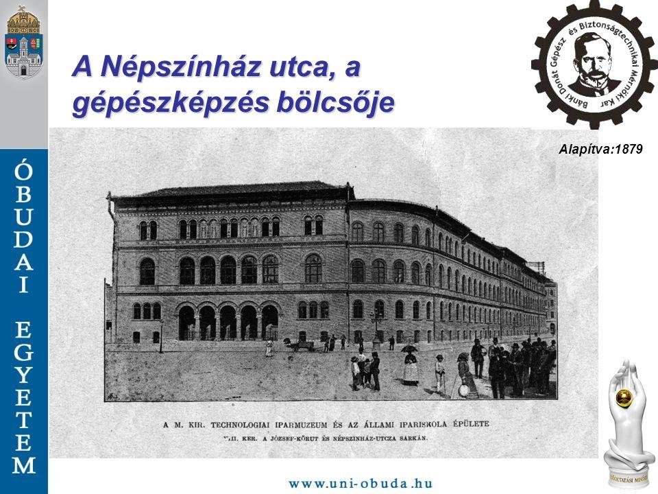 A Népszínház utca, a gépészképzés bölcsője Alapítva:1879