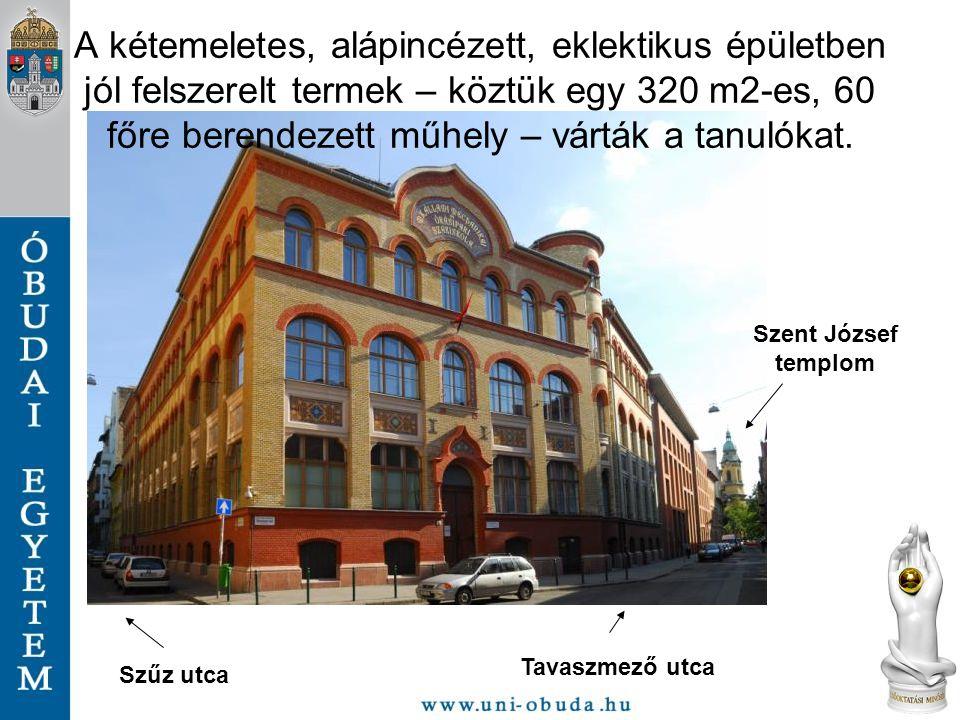 Szűz utca Tavaszmező utca Szent József templom A kétemeletes, alápincézett, eklektikus épületben jól felszerelt termek – köztük egy 320 m2-es, 60 főre