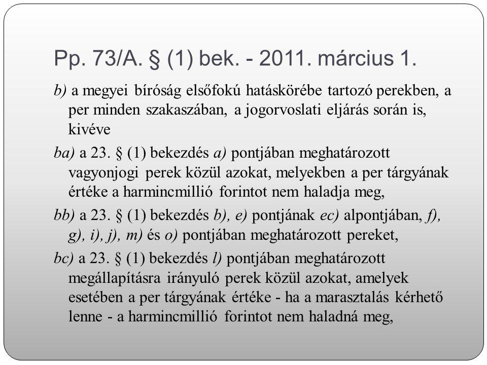 Pp.246. § (1) bek. (2011.