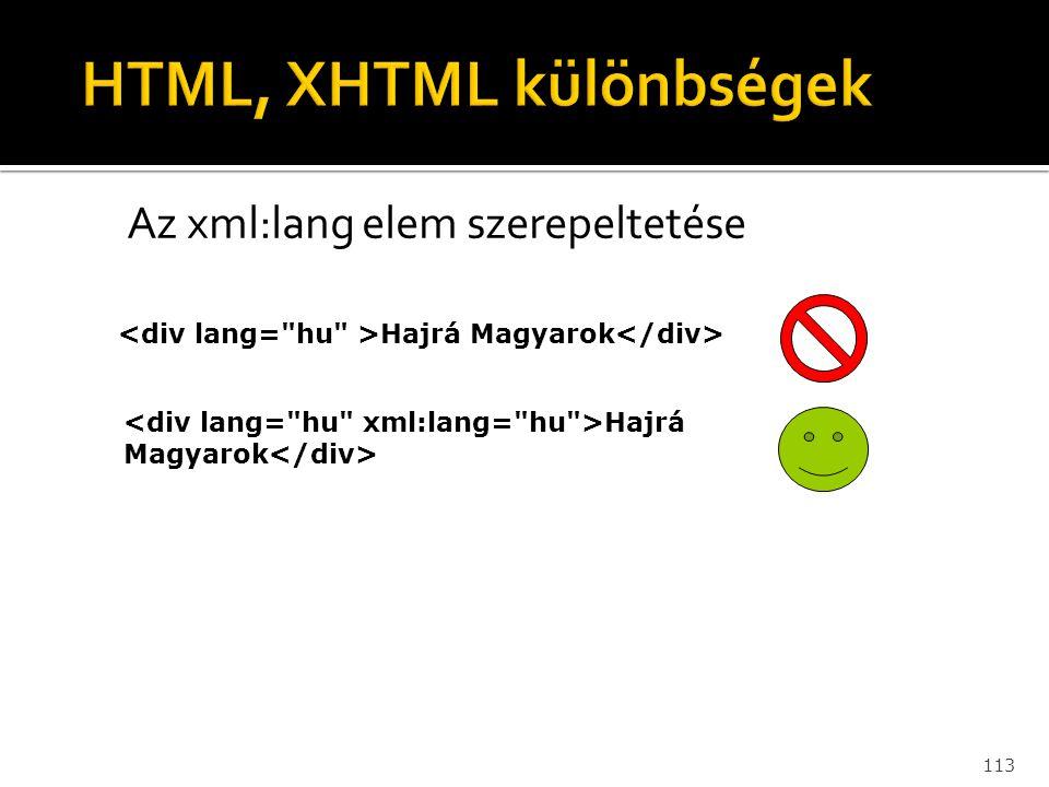 113 Az xml:lang elem szerepeltetése Hajrá Magyarok