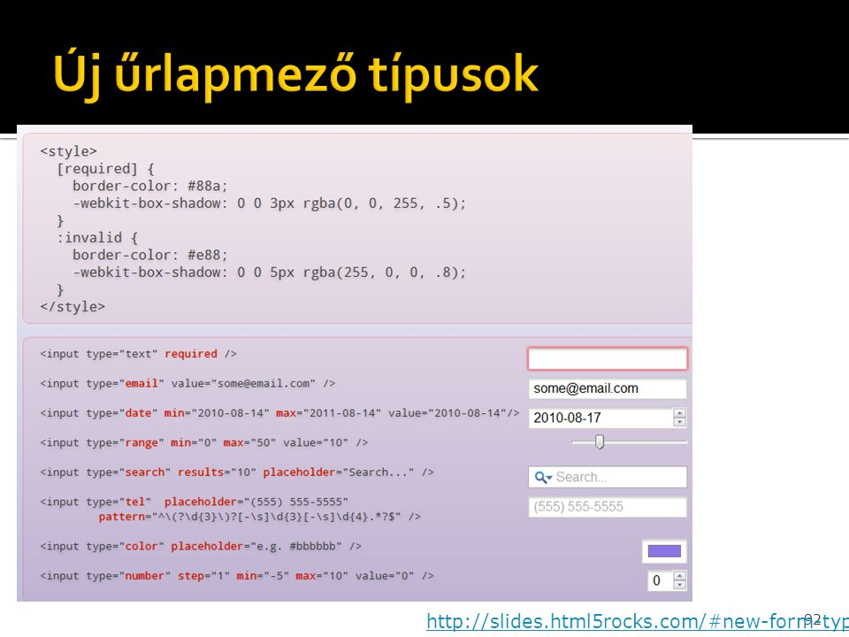 92 http://slides.html5rocks.com/#new-form-types