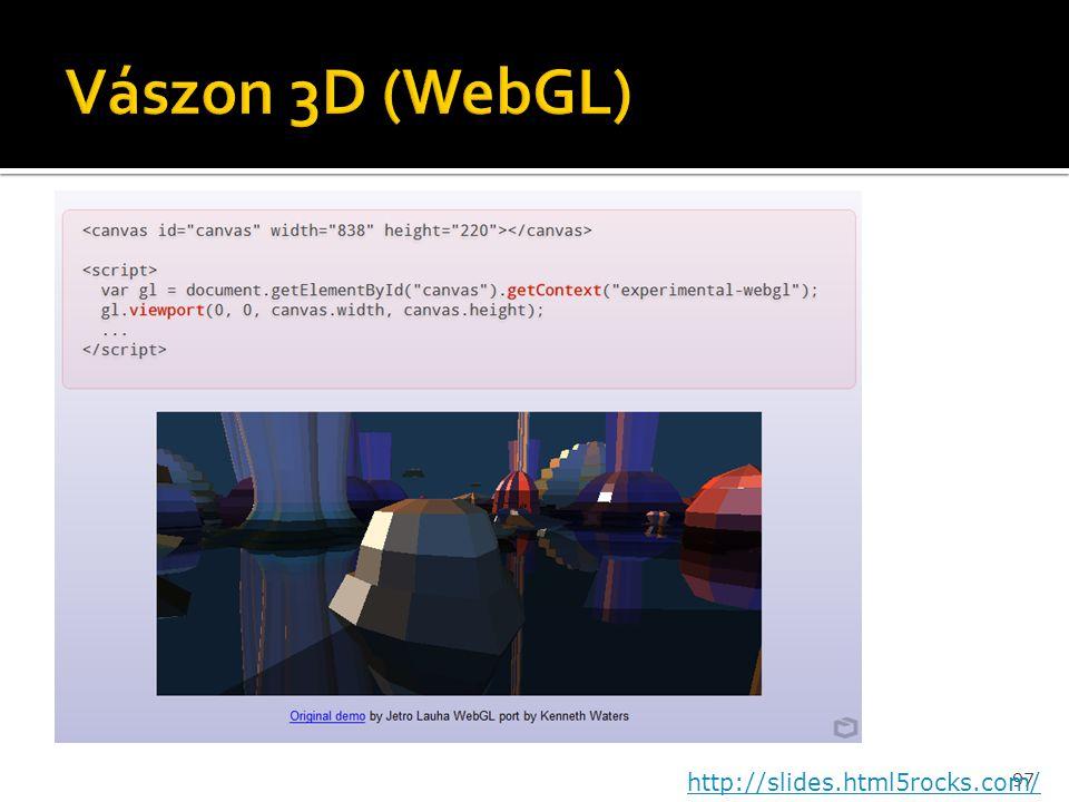 97 http://slides.html5rocks.com/