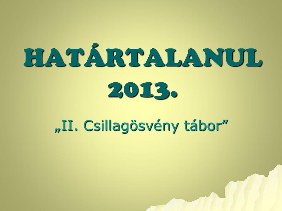 """HATÁRTALANUL 2013. """"II. Csillagösvény tábor"""""""