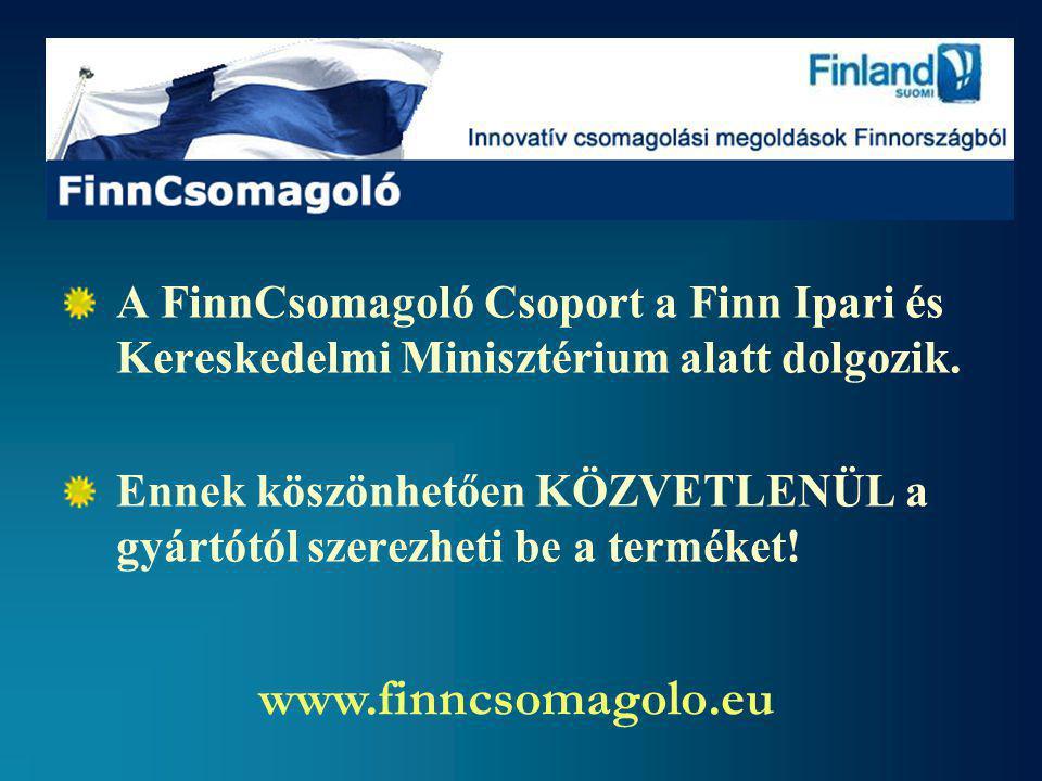 A FinnCsomagoló Csoport a Finn Ipari és Kereskedelmi Minisztérium alatt dolgozik.