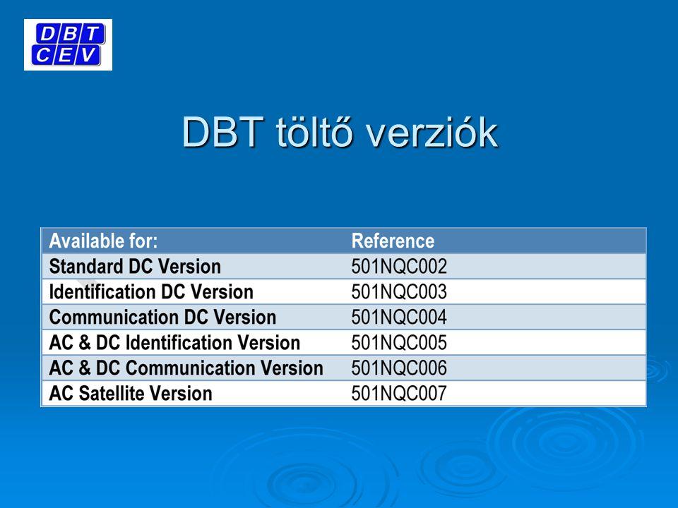 DBT töltő verziók