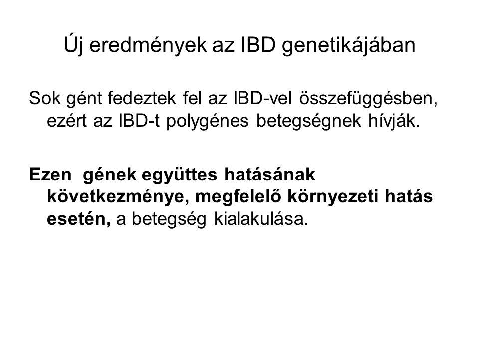 Sok gént fedeztek fel az IBD-vel összefüggésben, ezért az IBD-t polygénes betegségnek hívják. Ezen gének együttes hatásának következménye, megfelelő k
