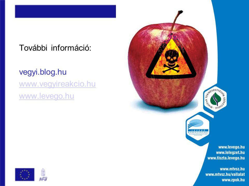 További információ: vegyi.blog.hu www.vegyireakcio.hu www.levego.hu