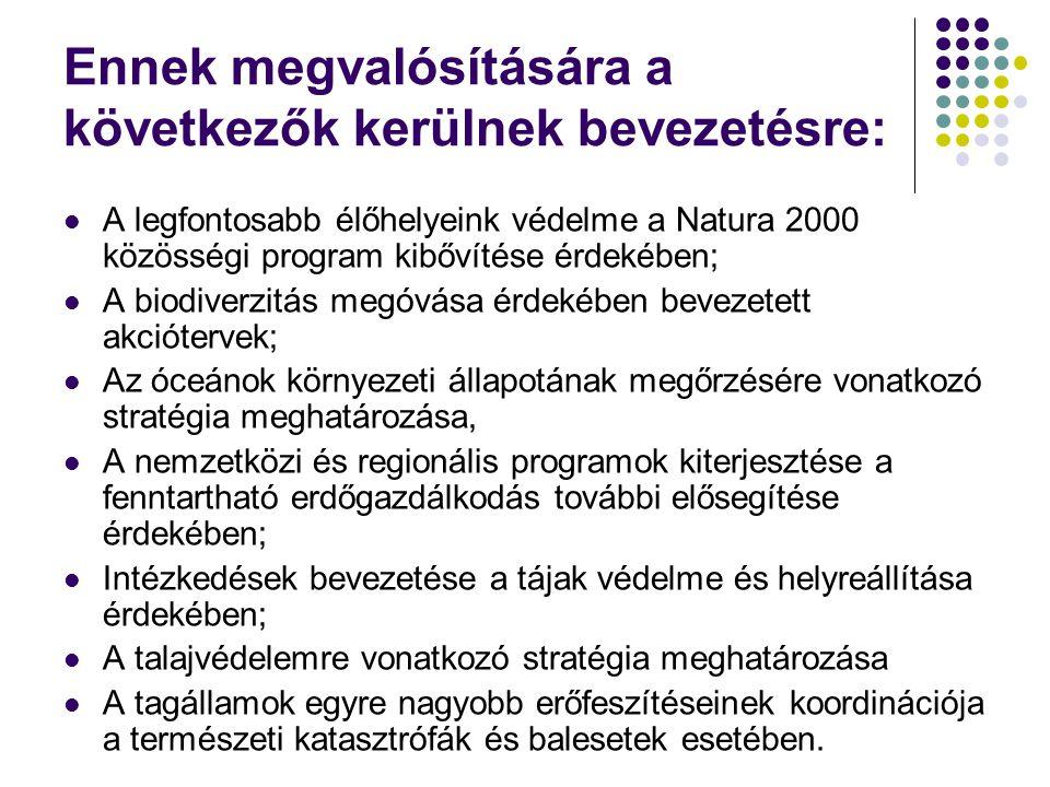 A környezet és egészségvédelem érdekében bevezetett intézkedések III.