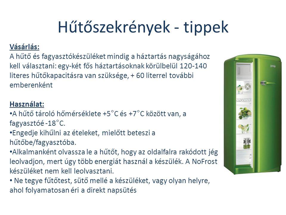 Hűtőszekrények - tippek Vásárlás: A hűtő és fagyasztókészüléket mindig a háztartás nagyságához kell választani: egy-két fős háztartásoknak körülbelül