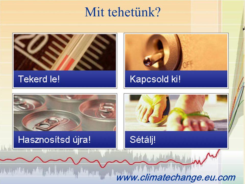 Mit tehetünk? www.climatechange.eu.com