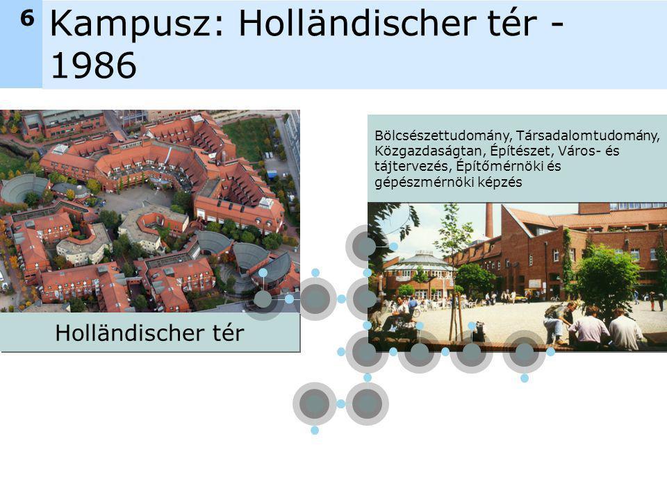 Kampusz: Holländischer tér - 1986 Holländischer tér Bölcsészettudomány, Társadalomtudomány, Közgazdaságtan, Építészet, Város- és tájtervezés, Építőmérnöki és gépészmérnöki képzés 6