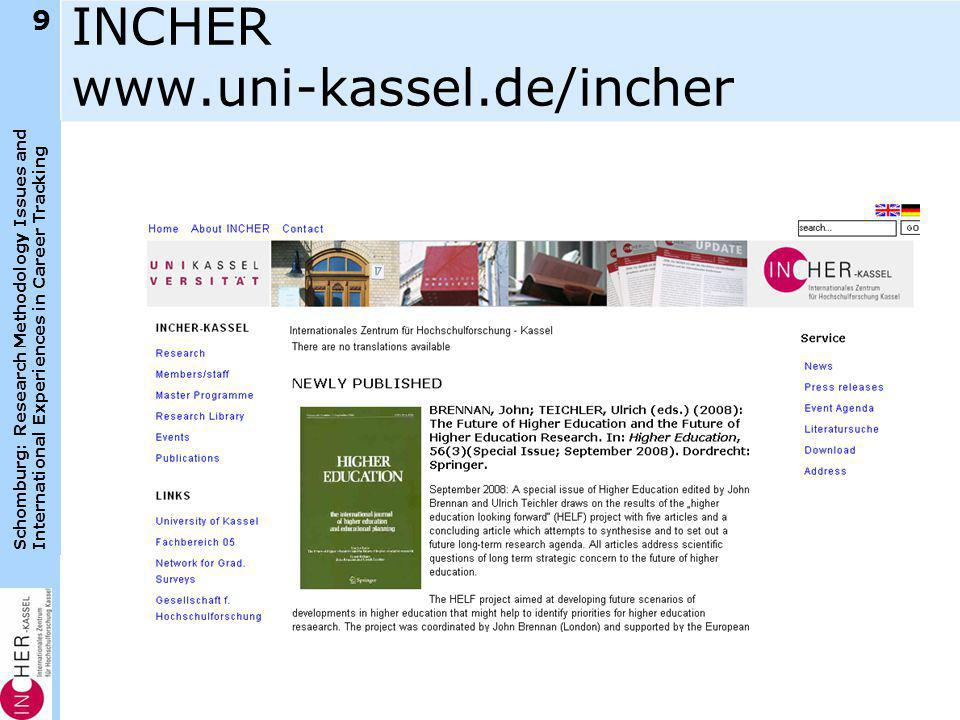 Schomburg: Research Methodology Issues and International Experiences in Career Tracking KÖSZÖNÖM 50