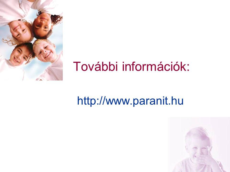 23 További információk: http://www.paranit.hu