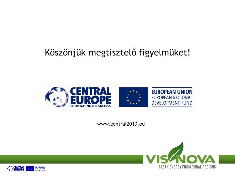 Köszönjük megtisztelő figyelmüket! www.central2013.eu
