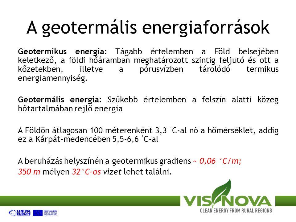 A geotermális energiaforrások Geotermikus energia: Tágabb értelemben a Föld belsejében keletkező, a földi hőáramban meghatározott szintig feljutó és ott a kőzetekben, illetve a pórusvízben tárolódó termikus energiamennyiség.